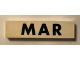 Part No: Mx1082pb03  Name: Modulex Tile 2 x 8 with Black Month 'MAR' Pattern