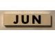 Part No: Mx1082pb06  Name: Modulex Tile 2 x 8 with Black Month 'JUN' Pattern
