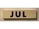 Part No: Mx1082pb07  Name: Modulex Tile 2 x 8 with Black Month 'JUL' Pattern