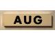 Part No: Mx1082pb08  Name: Modulex Tile 2 x 8 with Black Month 'AUG' Pattern