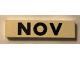 Part No: Mx1082pb11  Name: Modulex Tile 2 x 8 with Black Month 'NOV' Pattern