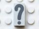 Part No: Mx1021Apb163  Name: Modulex, Tile 1 x 2 with Dark Gray '?' Pattern