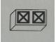 Part No: Mx1021Apb75  Name: Modulex, Tile 1 x 2 with Black Squares Crossed Diagonal Pattern