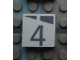 Part No: Mx1022Apb160  Name: Modulex, Tile 2 x 2 with Dark Gray Slopes and Calendar Week Number  '4' Pattern