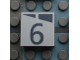 Part No: Mx1022Apb162  Name: Modulex, Tile 2 x 2 with Dark Gray Slopes and Calendar Week Number  '6' Pattern
