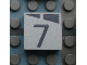 Part No: Mx1022Apb163  Name: Modulex, Tile 2 x 2 with Dark Gray Slopes and Calendar Week Number  '7' Pattern
