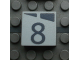 Part No: Mx1022Apb164  Name: Modulex, Tile 2 x 2 with Dark Gray Slopes and Calendar Week Number  '8' Pattern