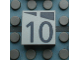 Part No: Mx1022Apb166  Name: Modulex, Tile 2 x 2 with Dark Gray Slopes and Calendar Week Number '10' Pattern