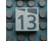 Part No: Mx1022Apb169  Name: Modulex, Tile 2 x 2 with Dark Gray Slopes and Calendar Week Number '13' Pattern