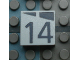 Part No: Mx1022Apb170  Name: Modulex, Tile 2 x 2 with Dark Gray Slopes and Calendar Week Number '14' Pattern