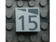 Part No: Mx1022Apb171  Name: Modulex, Tile 2 x 2 with Dark Gray Slopes and Calendar Week Number '15' Pattern