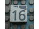 Part No: Mx1022Apb172  Name: Modulex, Tile 2 x 2 with Dark Gray Slopes and Calendar Week Number '16' Pattern