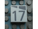 Part No: Mx1022Apb173  Name: Modulex, Tile 2 x 2 with Dark Gray Slopes and Calendar Week Number '17' Pattern