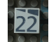 Part No: Mx1022Apb178  Name: Modulex, Tile 2 x 2 with Dark Gray Slopes and Calendar Week Number '22' Pattern