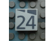 Part No: Mx1022Apb180  Name: Modulex Tile 2 x 2 with Dark Gray Slopes and Calendar Week Number '24' Pattern