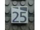 Part No: Mx1022Apb181  Name: Modulex, Tile 2 x 2 with Dark Gray Slopes and Calendar Week Number '25' Pattern