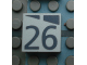 Part No: Mx1022Apb182  Name: Modulex, Tile 2 x 2 with Dark Gray Slopes and Calendar Week Number '26' Pattern