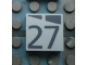 Part No: Mx1022Apb183  Name: Modulex, Tile 2 x 2 with Dark Gray Slopes and Calendar Week Number '27' Pattern