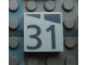 Part No: Mx1022Apb187  Name: Modulex, Tile 2 x 2 with Dark Gray Slopes and Calendar Week Number '31' Pattern