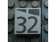Part No: Mx1022Apb188  Name: Modulex, Tile 2 x 2 with Dark Gray Slopes and Calendar Week Number '32' Pattern