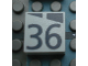 Part No: Mx1022Apb192  Name: Modulex, Tile 2 x 2 with Dark Gray Slopes and Calendar Week Number '36' Pattern