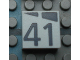 Part No: Mx1022Apb197  Name: Modulex, Tile 2 x 2 with Dark Gray Slopes and Calendar Week Number '41' Pattern
