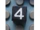 Part No: Mx1011Apb117  Name: Modulex, Tile 1 x 1 with White '4' Pattern