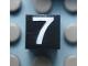 Part No: Mx1011Apb120  Name: Modulex, Tile 1 x 1 with White '7' Pattern