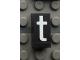 Part No: Mx1021Apb10  Name: Modulex, Tile 1 x 2 with White 't' Pattern