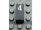 Part No: Mx1021Apb52  Name: Modulex Tile 1 x 2 with White Calendar Day Number  '4' Pattern