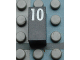 Part No: Mx1021Apb55  Name: Modulex Tile 1 x 2 with White Calendar Day Number '10' Pattern