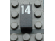 Part No: Mx1021Apb57  Name: Modulex Tile 1 x 2 with White Calendar Day Number '14' Pattern