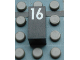 Part No: Mx1021Apb58  Name: Modulex Tile 1 x 2 with White Calendar Day Number '16' Pattern