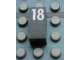 Part No: Mx1021Apb59  Name: Modulex Tile 1 x 2 with White Calendar Day Number '18' Pattern