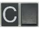 Part No: Mx1043pb03  Name: Modulex Tile 3 x 4 with White 'C' Pattern