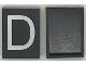 Part No: Mx1043pb04  Name: Modulex Tile 3 x 4 with White 'D' Pattern