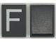 Part No: Mx1043pb06  Name: Modulex Tile 3 x 4 with White 'F' Pattern