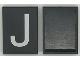 Part No: Mx1043pb09  Name: Modulex Tile 3 x 4 with White 'J' Pattern