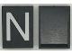 Part No: Mx1043pb12  Name: Modulex Tile 3 x 4 with White 'N' Pattern