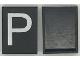 Part No: Mx1043pb14  Name: Modulex Tile 3 x 4 with White 'P' Pattern