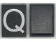 Part No: Mx1043pb15  Name: Modulex Tile 3 x 4 with White 'Q' Pattern