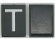 Part No: Mx1043pb18  Name: Modulex, Tile 3 x 4 with White 'T' Pattern