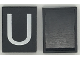 Part No: Mx1043pb19  Name: Modulex Tile 3 x 4 with White 'U' Pattern