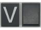 Part No: Mx1043pb20  Name: Modulex Tile 3 x 4 with White 'V' Pattern