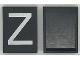 Part No: Mx1043pb23  Name: Modulex Tile 3 x 4 with White 'Z' Pattern