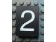 Part No: Mx1043pb29  Name: Modulex Tile 3 x 4 with White '2' Pattern