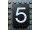 Part No: Mx1043pb32  Name: Modulex Tile 3 x 4 with White '5' Pattern