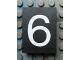 Part No: Mx1043pb33  Name: Modulex Tile 3 x 4 with White '6' Pattern