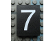 Part No: Mx1043pb34  Name: Modulex Tile 3 x 4 with White '7' Pattern