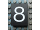 Part No: Mx1043pb35  Name: Modulex Tile 3 x 4 with White '8' Pattern